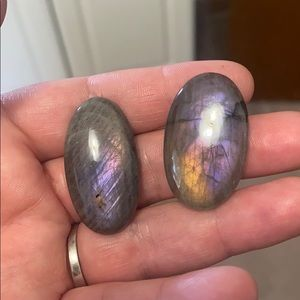 Purple labradorite cabochon lot